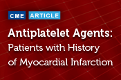Antiplatelet Agents for Secondary Prevention of Thrombotic Cardiovascular Events in Patients With a History of Myocardial Infarction