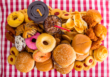 Burgers, donuts