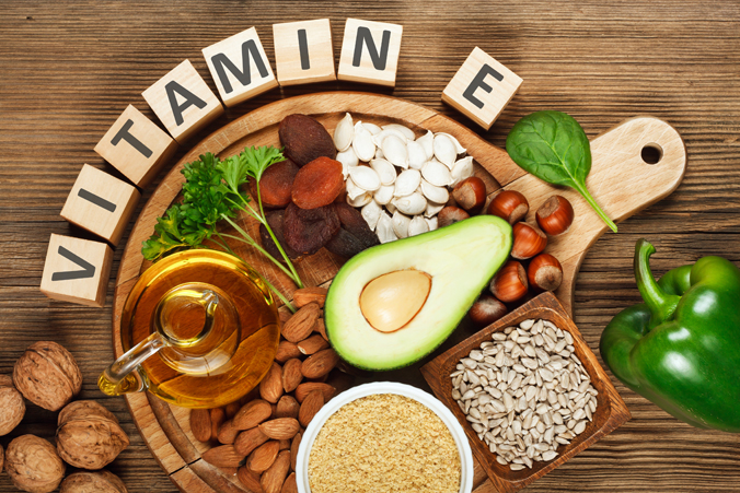Vitamin E with food