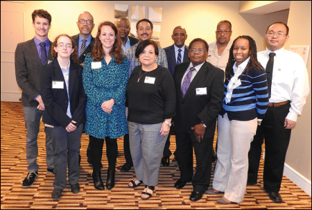 IAAPOC officers and students in the O&P master's degree program at the Georgia Institute of Technology pose for a picture during the meeting held at the Atlanta Marriott Suites Midtown.
