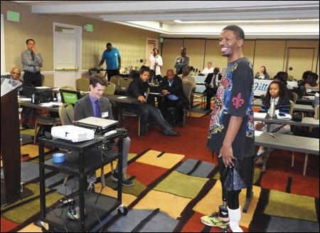 Jamel Merritt demonstrates walking and gait using the Kinnex Plie combination and Plie programming.