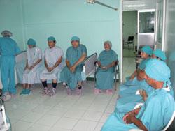 Patients await surgery