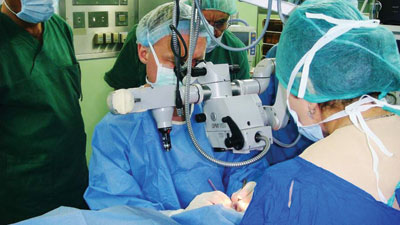 Phillips Kirk Labor, MD, performed surgery at the Azadi Hospital in Duhok, Kurdistan.