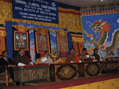 A conference Fisher attended in Bhutan in 2009