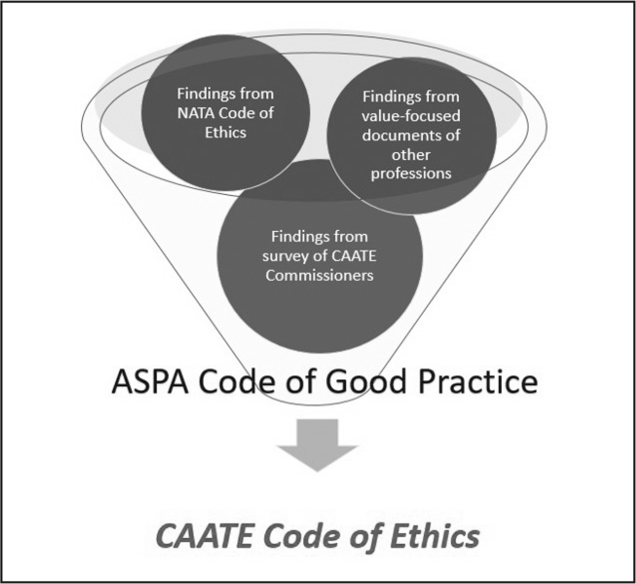 Developing the Commission on Accreditation of Athletic Training Education (CAATE) Code of Ethics. NATA = National Athletic Trainers' Association; ASPA = Association of Specialized Professional Accreditors