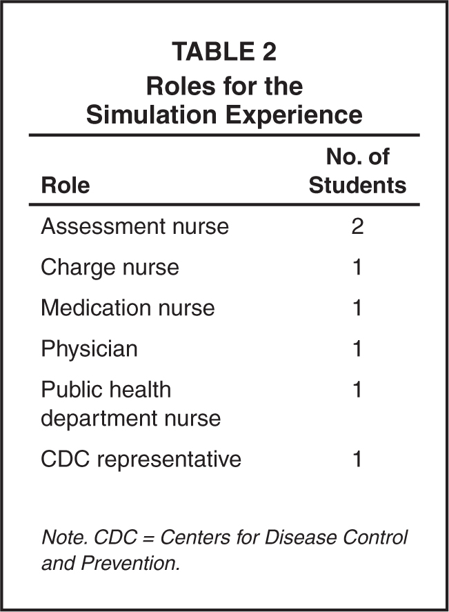 Roles for the Simulation Experience