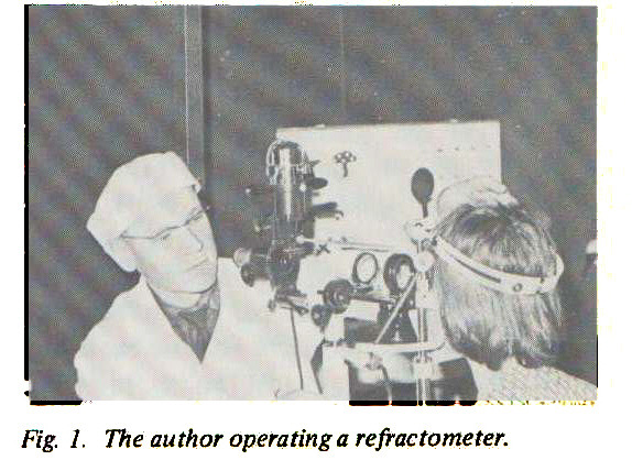 Fig. 1. The author operating a refractometer.