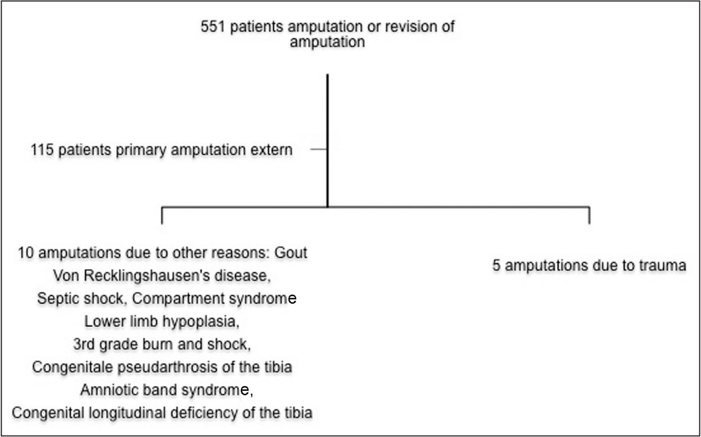 Exclusion criteria of the study.
