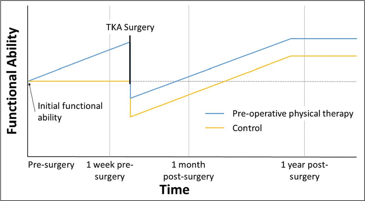 Perioperative Physiotherapy In Total Knee Arthroplasty Aviation Key Systems Wiring Diagram Proposed Prehabilitation Model It Is Postulated That Rehabilitation Before Surgery Results Better Postoperative Outcomes