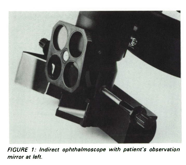 A Teaching Mirror for Patient's Observations During Indirect