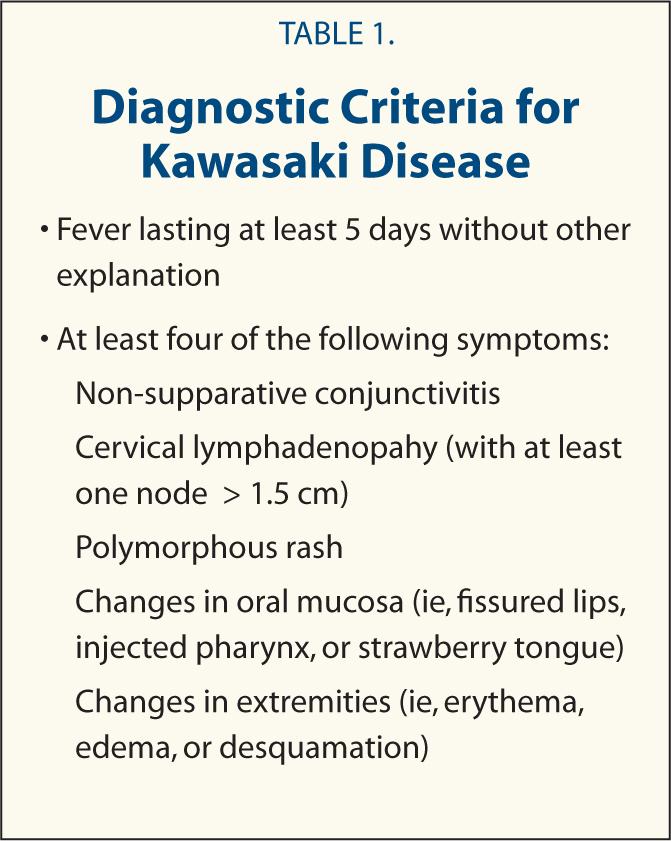 Atypical Kawasaki Disease Diagnostic Criteria