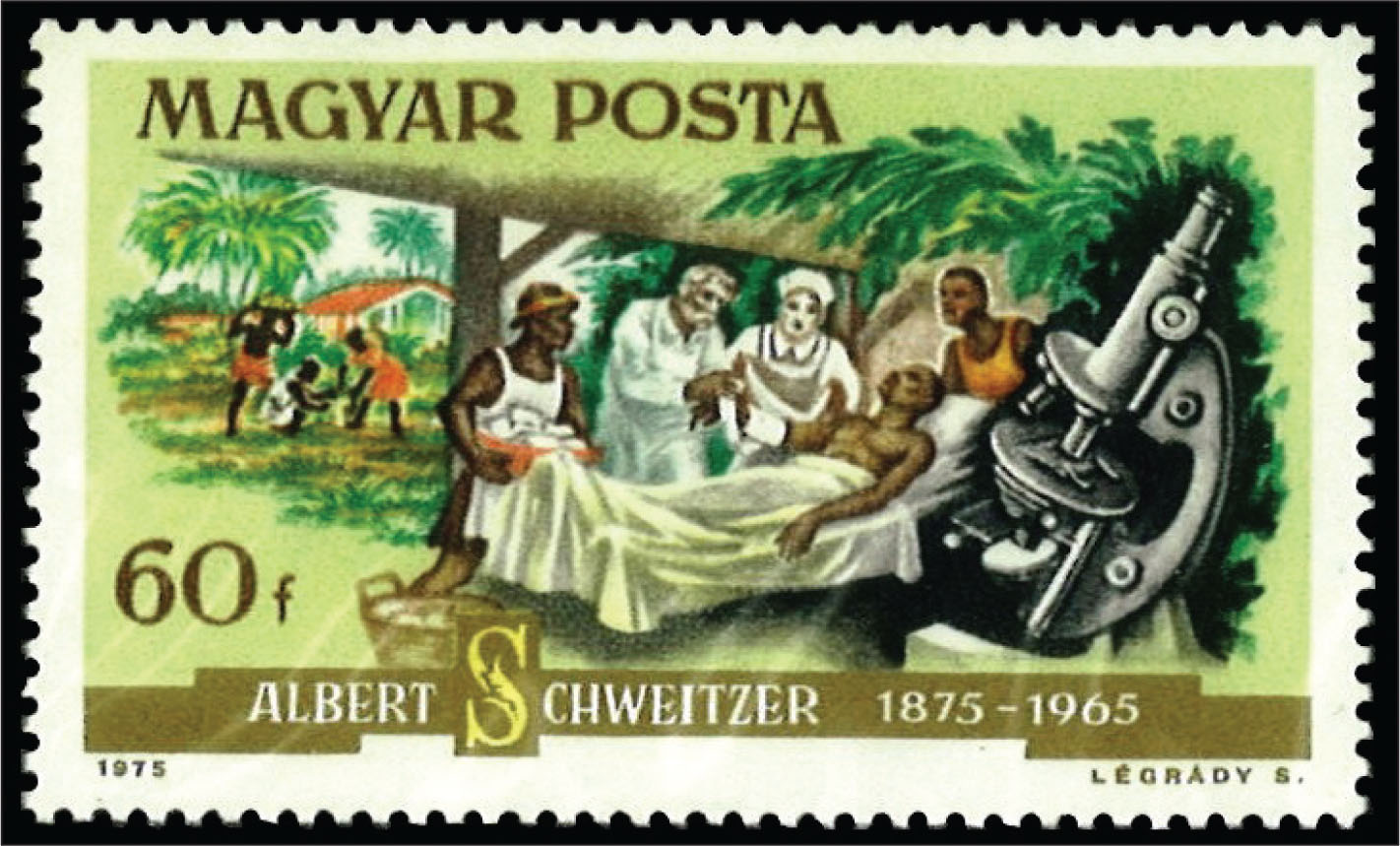 Dr. Albert Schweitzer was awarded numerous awards and honors for his humanitarian activities in Africa.