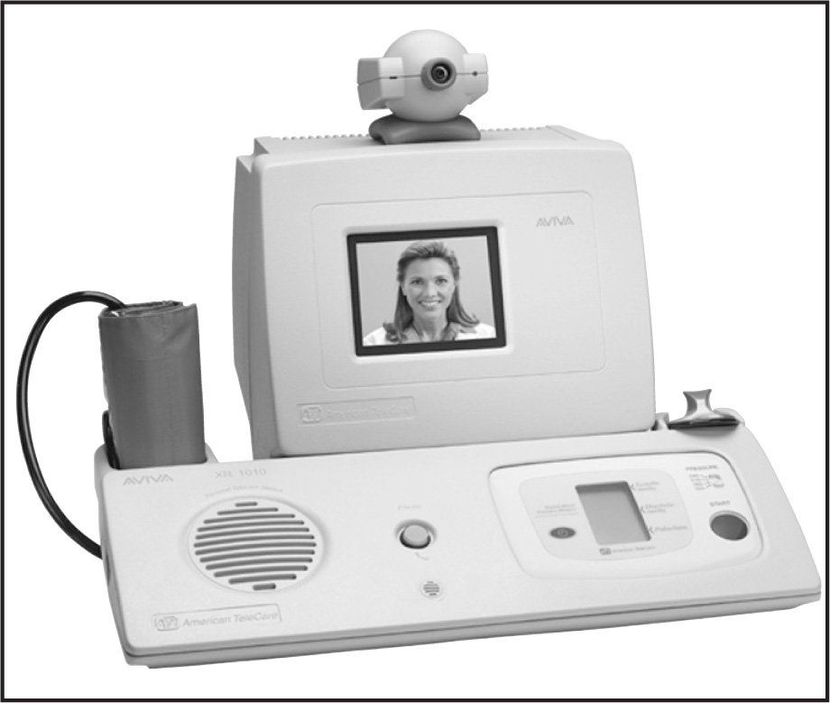 Synchronous (interactive) Telehealth System. Photo Courtesy of American Telecare, Inc.