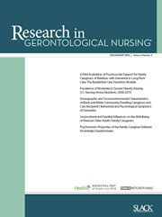 Research in Gerontological Nursing