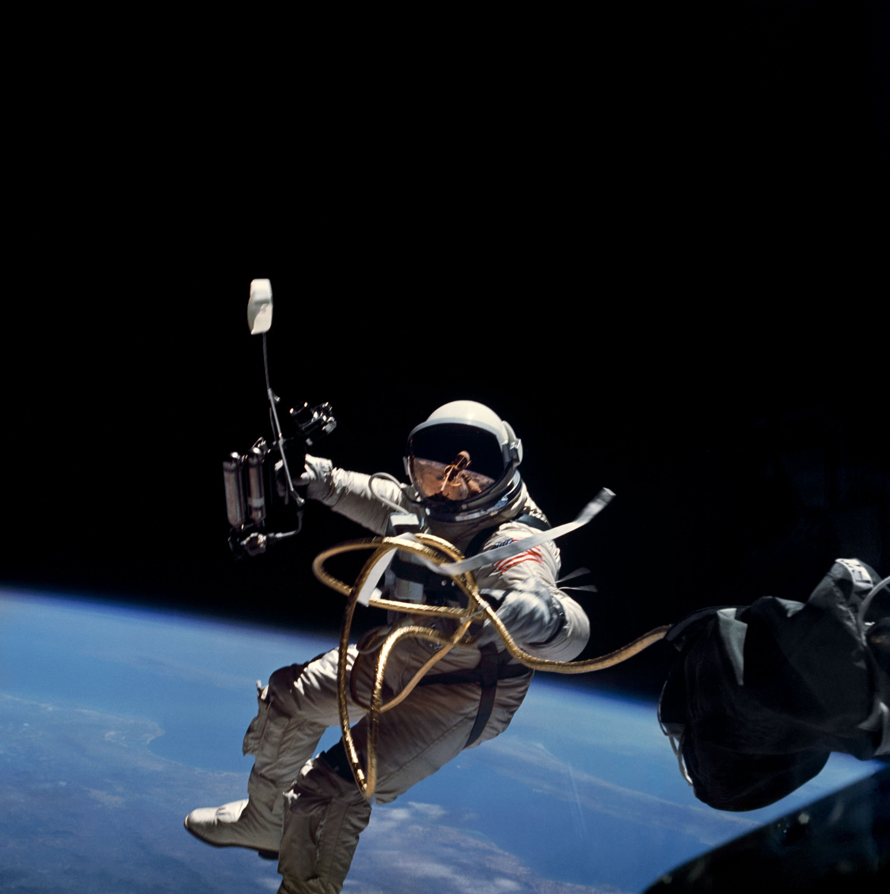 Photo of an astronaut in space