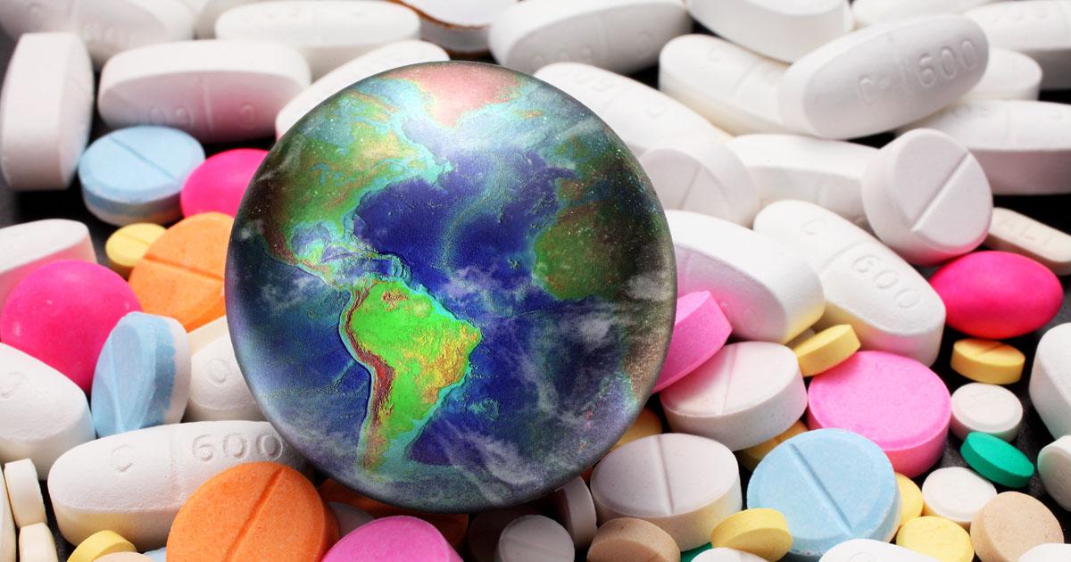 Globe on Top of Pills