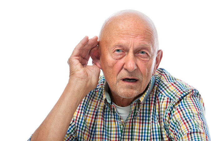 Older Man With Hearing Problem