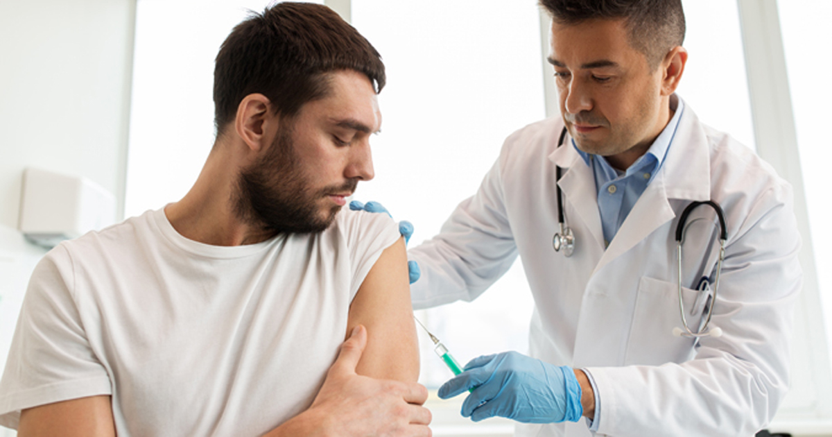 Image of a person getting vaccinated.